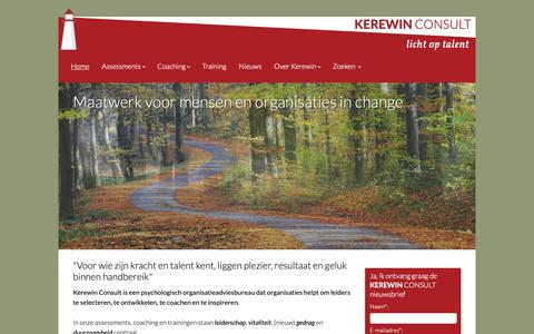 Screenshot of Home Page kerewin.nl - Kerewin Consult - Home - captured Oct. 15, 2018