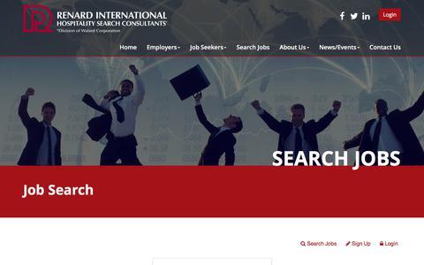 Screenshot of Login Page renardinternational.com - Renard International Hospitality Search Consultants | Please Login - captured Nov. 9, 2017