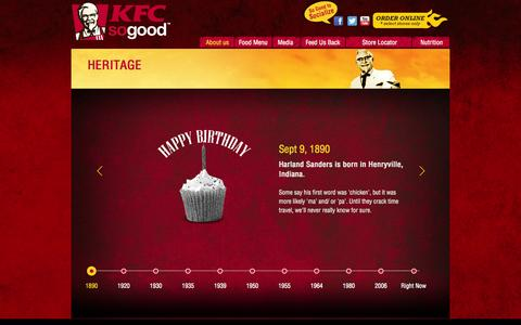 Screenshot of About Page kfc.co.in - :: KFC sogood :: - captured Oct. 29, 2014