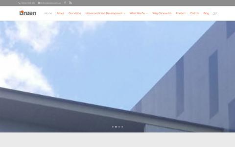 Screenshot of Home Page linzen.com.au - Property Development Group in Brisbane Queensland Australia - captured Oct. 8, 2014