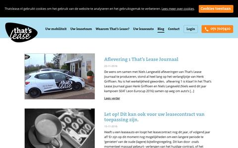 Screenshot of Blog thatslease.nl - Blog- That's Lease - captured Dec. 16, 2016