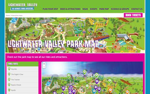 Screenshot of Maps & Directions Page lightwatervalley.co.uk - Lightwater Valley Park Map - captured Sept. 28, 2018