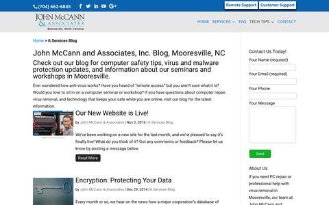 Screenshot of Blog mccannassociates.com - It Services Blog | John McCann and Associates, Inc. - captured Nov. 27, 2016