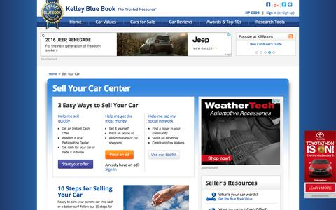 Screenshot of kbb.com - How To Sell A Car - Sell Your Car - Kelley Blue Book - captured Dec. 9, 2016