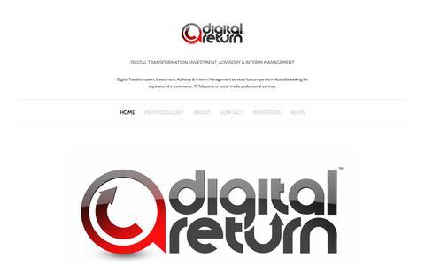 Screenshot of Home Page digital-return.com.au - Digital Return - captured Oct. 12, 2017