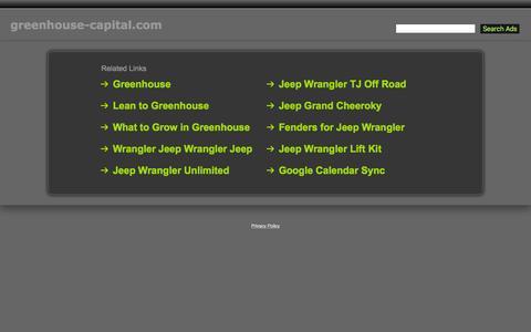 Screenshot of Home Page greenhouse-capital.com - Greenhouse-Capital.com - captured Feb. 1, 2016