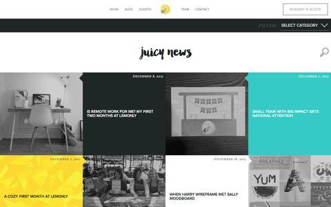 Screenshot of Blog lemonly.com - Infographic Design Blog from Lemonly - captured Dec. 8, 2015
