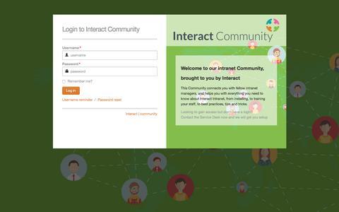 Screenshot of interact-intranet.com - Log in - captured Feb. 7, 2017