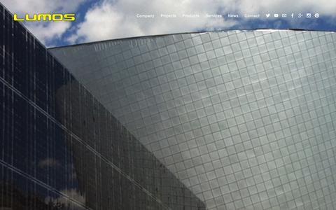 Screenshot of Home Page lumossolar.com - Lumos Solar - captured Dec. 13, 2015