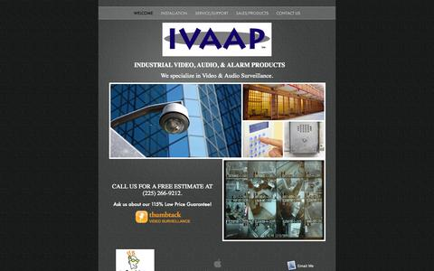 Screenshot of Home Page ivaap.com - welcome - captured Aug. 3, 2015