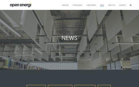 Screenshot of Press Page openenergi.com - Open Energi latest news, blog posts, press coverage and events - captured Oct. 19, 2018