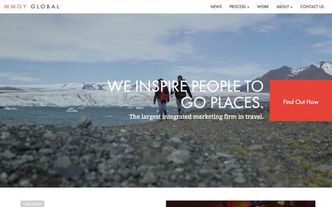 Screenshot of Home Page mmgyglobal.com - Travel & Hospitality Marketing Firm   MMGY Global   Tourism Advertising Agency - captured Aug. 2, 2015