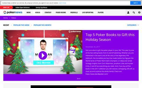 Screenshot of pokernews.com - Online Poker Videos. Tournaments, strategy and webcasts | PokerNews - captured Dec. 4, 2017