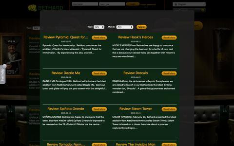 Screenshot of Press Page bethard.com - BetHard.com - Casino & Sports on your computer and mobile - captured Nov. 14, 2015