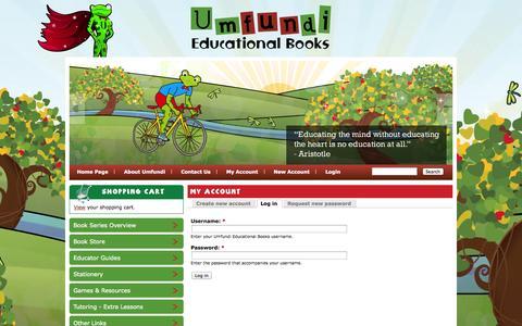 Screenshot of Login Page umfundibooks.co.za - My Account | Umfundi Educational Books - captured Oct. 4, 2014