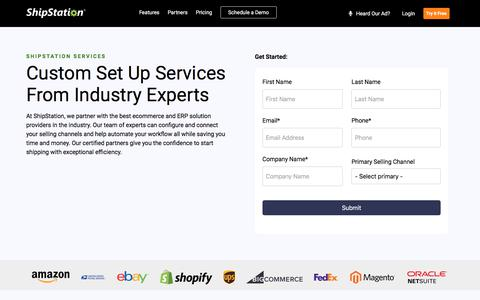 Screenshot of Services Page shipstation.com - Services | ShipStation - captured Feb. 7, 2020