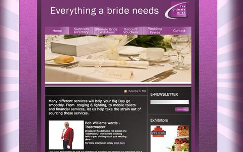 Screenshot of Services Page theultimatebride.co.uk - Wedding services, people and toastmasters listing on the Ultimate Bride website - captured Oct. 9, 2014