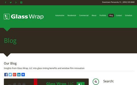 Screenshot of Blog glasswrap.com - Glass Wrap | Blog - Pensacola, FL - captured Dec. 21, 2015