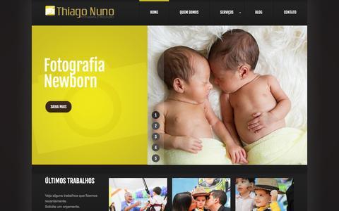 Screenshot of Home Page thiagonuno.com.br - Fotografia de Aniversário Infantil | Thiago Nuno Fotógrafo - captured March 12, 2016