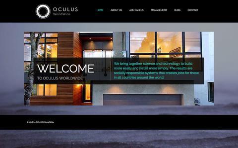 Screenshot of Home Page oc-ww.com - OCULUS   WorldWide - captured Feb. 15, 2016