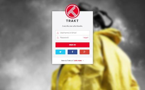 Screenshot of Login Page trakt.tv - Sign in to trakt - Trakt.tv - captured Nov. 17, 2015
