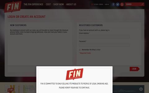 Screenshot of Login Page fincigs.com - Customer Login - captured Jan. 15, 2016