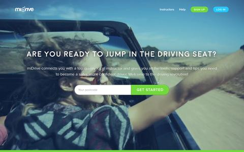 Screenshot of Home Page midrive.com - miDrive - The UK's leading learner driver community - captured Dec. 1, 2015