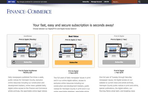 Subscribe – Finance & Commerce