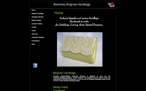 Screenshot of Home Page roseringrosehandbags.co.uk - Home - Rosemary Ringrose Handbags - captured Oct. 23, 2017