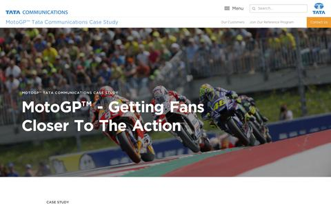 Screenshot of Case Studies Page tatacommunications.com - MotoGP™ Tata Communications Case Study | Tata Communications - captured Dec. 18, 2019