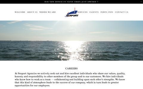 Screenshot of Jobs Page seaportagencies.com - CAREERS — Seaport Agencies - captured Nov. 17, 2016