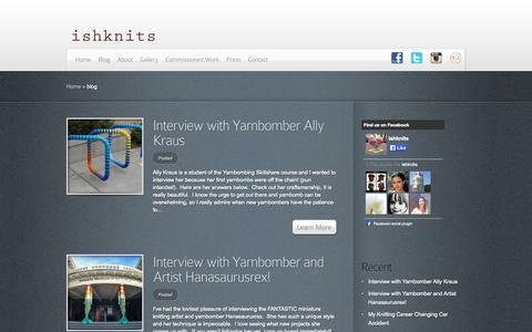 Screenshot of Blog ishknits.com - blog | ishknits - captured Sept. 30, 2014