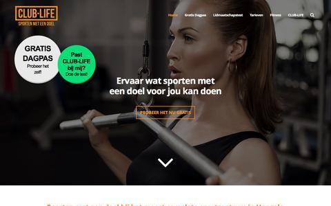 Screenshot of Home Page club-life.nl - Start met fitness bij CLUB-LIFE in Hengelo - captured Sept. 25, 2018