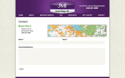 Screenshot of Contact Page justmapit.net - Contact «  Just Map It - captured Sept. 30, 2014
