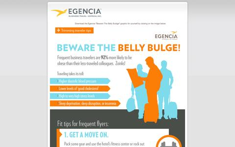 Screenshot of Landing Page egencia.com - Beware the Business Traveler Belly Bulge - captured April 21, 2016