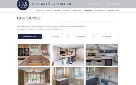 Screenshot of Case Studies Page hks-uk.com - Case Studies | Kitchen Designers West Sussex | Bathroom Fitters Sussex | Bedroom Design Haywards Heath - captured Sept. 26, 2018