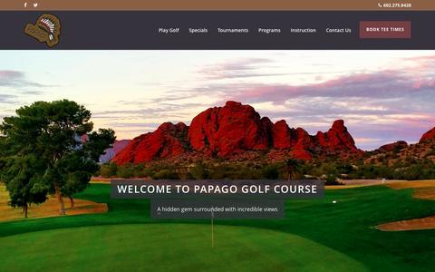 Screenshot of Home Page Terms Page papagogolfcourse.net - Papago Golf Course: A Phoenix Arizona Public Golf Course - captured April 13, 2016