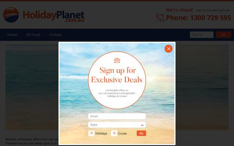 Screenshot of Signup Page holidayplanet.com.au - Sign Up | Holiday Planet Australia - captured July 20, 2018