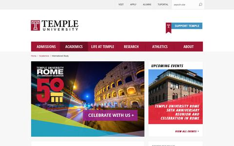 International Study | Temple University