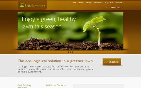 Screenshot of Home Page logiclawncare.com - Logic Lawn Care - captured Sept. 30, 2014