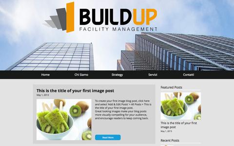 Screenshot of Home Page buildupfm.com - BuildUpfm facility management italia facility management società - captured Oct. 5, 2014
