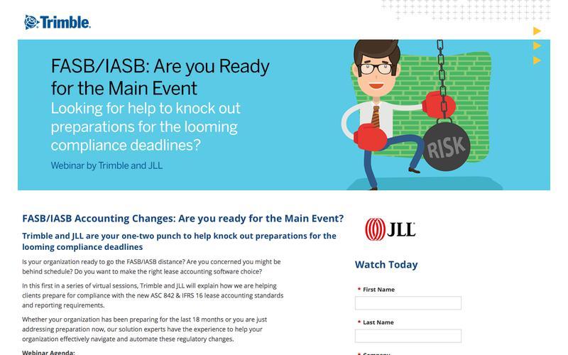 FASB/IASB Webinar: How JLL and Trimble can help