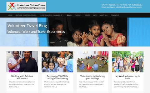 Screenshot of Blog rainbowvoluntours.com - Volunteer Travel |Volunteer Experiences |Volunteer Blogs - captured Jan. 10, 2016