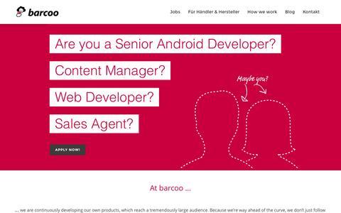 Screenshot of Team Page barcoo.com - barcoo - Jobs - captured Feb. 2, 2016