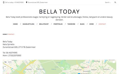 Screenshot of Contact Page bellatoday.nl - Contact - Bella Today - captured Aug. 1, 2018