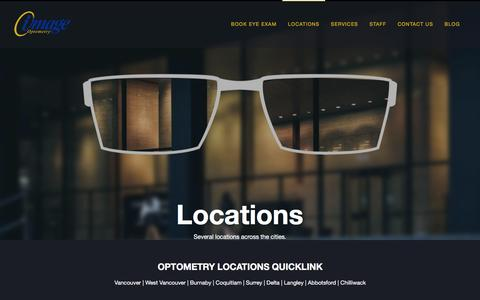 Screenshot of Locations Page image.ca - Eye Care Locations   Image Optometry - captured Nov. 25, 2016