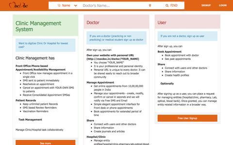Screenshot of Signup Page mocdoc.in - Hospital Management System / Software | MocDoc - captured Sept. 21, 2016