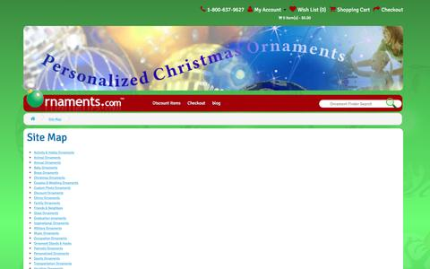 Screenshot of Site Map Page ornaments.com - Site Map - captured Dec. 8, 2016