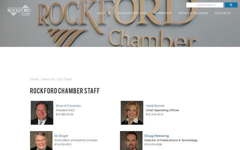 Screenshot of Team Page rockfordchamber.com - Our Team  | Rockford Chamber of Commerce | Rockford, IL - ROCKFORD CHAMBER OF COMMERCE - captured Oct. 22, 2017