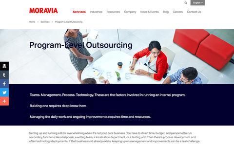 Program-Level Outsourcing - Moravia